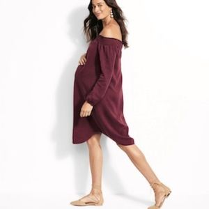Maternity Off the Shoulder Dress